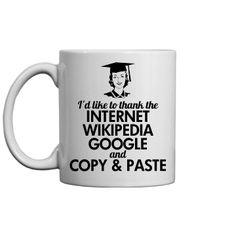 A Thankful Graduate Custom Coffee Mug. Funny Graduation Gifts for high school graduates and college grads!