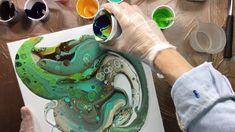 ( 103 ) Acrylic pouring floetrol + poringmedium + silicone
