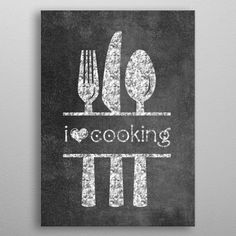 Kitchen Seasoned with Love Breakfast Lunch Dinner Cooking Eat Poster Print Wall