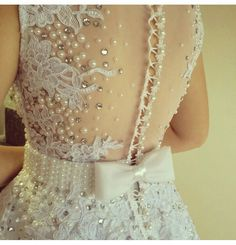 Perolas Tambour Beading, Dream Wedding, Wedding Day, Pearl And Lace, Business Dresses, Pink Dress, Dress To Impress, Sequin Skirt, Sequins