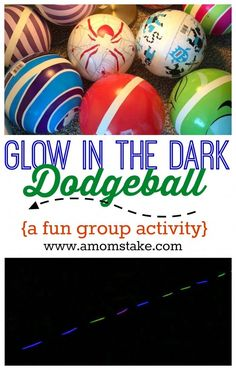 Everyone will want to join in on this fun glow in the dark dodgeball game great to play outdoors with a group! Fun night game for teens or adults. via fun night Glow in the Dark Dodgeball Outdoor Party Games, Adult Party Games, Backyard Games, Adult Games, Abc Games, Outdoor Fun, Bible Games, Outdoor Ideas, Backyard Ideas