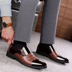 Mens black leather shoes.  - red leather shoes mens, - mens leather dance shoes,  Click visit link above for more options Women's Shoes, Slip On Shoes, Dress Shoes, Shoes Men, Dance Shoes, Mens Business Shoes, Business Fashion, Formal Shoes For Men, Men Formal