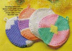 free crochet Easter Egg Potholder Pattern