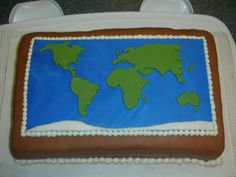 """Likely to be the inspiration for the birthday cake I need to make in 8 weeks time - Arthur wants a """"world weather"""" cake for his 7th birthday! :S"""