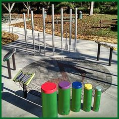 Freenotes Harmony Park Outdoor Musical Instruments for schools playgrounds parks All Ages And Abilities Outdoor Playground, Playground Ideas, Harmony Park, Music Garden, Sensory Wall, Writing Area, Sensory Garden, Music School, New Classroom