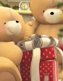 CHRISTMAS STAR TEDDY BEAR GIF