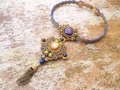 Zafron Soutache Necklace by ZoojaDesign on Etsy, $150.00
