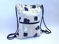 Backpack cats by Mizifu on Etsy