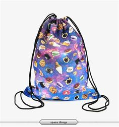 Gym Bags Drawstring Bags Drawstring Backpacks Bags Fantasy Volcano Pattern Sports Gym Sackpack Tote Travel Rucksack