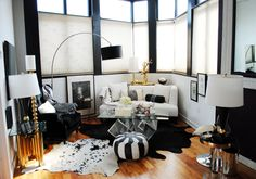 The Glamourai's pad... the coolest black and white (accented with gold, texture, and a little weird)