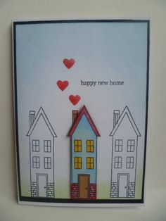 New home card - Stampin' Up! Holiday Home