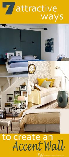 A focal point is an important aspect of design and Accent Walls are notorious for achieving this!  Learn 7 attractive options to creating an accent wall in your home!   www.providenthomedesign.com