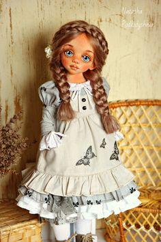 Купить Амели - серый, девочка в бохо, кукла в стиле Бохо, текстильная кукла