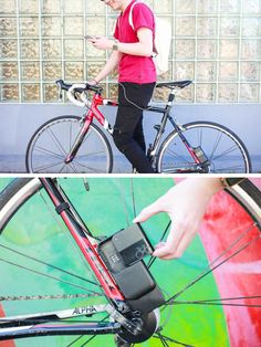 This pedal powered charger allows you to go for a bike ride and boost your phone's battery life at the same time! ($129)