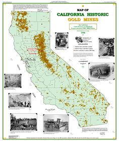 Map Of Historic California Gold Mines