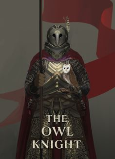 The Owl Knight: New Class For Dungeon World - This playbook with wonderful cover art done by Nick Ladd is a new class for the RPG Dungeon World. The Owl Knight i Fantasy Character Design, Character Design Inspiration, Character Concept, Character Art, Fantasy Armor, Medieval Fantasy, Dark Fantasy Art, Dnd Characters, Fantasy Characters