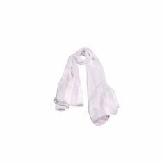 Echarpe Listrada Branca de Seda #echarpes #lenços #lenço #scarf #scarfs