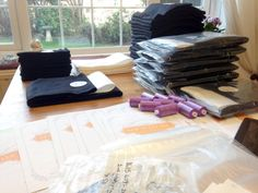 Little Gumnut have been busy working on our large order :-) These are the sew your own cloth pad kits being prepared :-) Thank you Little Gumnut