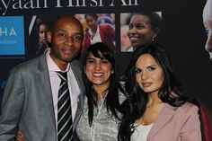 Chaz Akoshile, Joint Head of the UK's Forced Marriage Unit; Jasvinder Sanghera, founder of Karma Nirvana and Sabatina James, founder of Sabatina EV at the AHA Foundation cocktail reception celebrating International Women's Day and the launch of our HONOUR products!