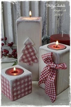 24 Amazing Christmas Candle Centerpieces – Holiday Craft Ideas – Grandcrafter – DIY Christmas Ideas ♥ Homes Decoration Ideas Christmas Wood Crafts, Decoration Christmas, Noel Christmas, Rustic Christmas, Christmas Projects, Holiday Crafts, Christmas Decoupage, Etsy Christmas, Silver Christmas