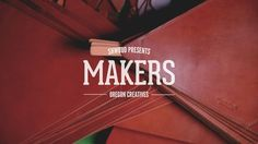 Shwood Eyewear presents MAKERS Part 2 featuring Beam & Anchor; a collective workspace and showroom in North Portland where an assortment of local craftsmen make and sell their work. Great Place To Work, Make And Sell, How To Make, Custom Made Furniture, Video Maker, Life Inspiration, Craft Items, Design Process, Beams