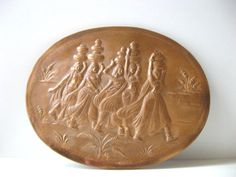 Vintage Indian Copper Relief Wall Plaque Decor by TheHiddenGrove, £29.99