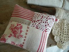 Use a piece of crochet to decorate your sewing. Nice combination of crafts.