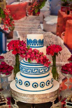 Mamma Mia, 17th Birthday, Birthday Bash, Mediterranean Wedding, Birthday Balloon Decorations, Henna Party, Cakes And More, Evil Eye, Santorini