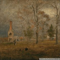 @dawnbradleyein George Inness Gray Day, Goochland #art If you are an artist or writer and would like to grow your following on Instagram, please try our 3 Day Free Trial. No credit card information necessary