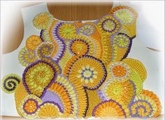 Irish crochet &: Фриформ. Скрамбли.