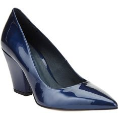 Kin by John Lewis Anneli Block Heeled Court Shoes , Navy ($86) ❤ liked on Polyvore featuring shoes, pumps, navy, block heel pumps, navy blue shoes, navy flat shoes, pointy toe pumps and high heel pumps