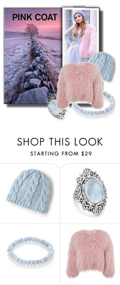 """""""Pink Coats Contest"""" by sabine-713 ❤ liked on Polyvore featuring Lands' End, Bling Jewelry, Sydney Evan and Charlotte Simone"""