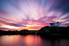 Sunrise at the Nubble Lighthouse in Cape Neddick, Maine. I love this place.