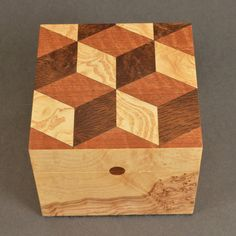 Tumbling Blocks Quilt, Quilt Blocks, Wood Patterns, Quilt Block Patterns, Keepsake Boxes, Wood Wall Art, Wooden Boxes, Wood Carving, Wood Crafts