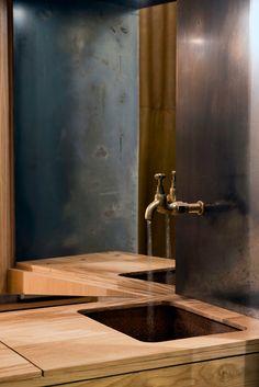 Aesop's Hollywood Road store features pale oak, copper and steel - Augmented. Architecture Details, Interior Architecture, Interior Design, Building Architecture, Tienda Aesop, Warehouse Kitchen, Aesop Store, Antique Brass Faucet, Melbourne