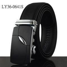 Leather Belts for Men special letter Automatic Buckle Strap