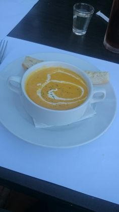 Charito by Bag of Beans. Pumpkin Soup, Happy Weekend, Tgif, Brewing, Beans, Tableware, Butternut Squash Soup, Squash Soup, Dinnerware