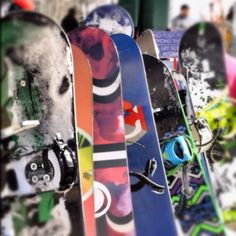 Snowboards at Las Vegas Ski & Resort
