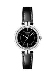 Tissot Flamingo Ladies' Black Leather Strap Watch Take a further off sale prices with the code Big Watches, Sport Watches, Luxury Watches, Cool Watches, Watches For Men, Analog Watches, Black Watches, Leather Watches, Dress Watches