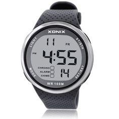 XONIX Fashion Men Sports Watches Waterproof 100m Outdoor Fun Digital Watch Swimming Diving