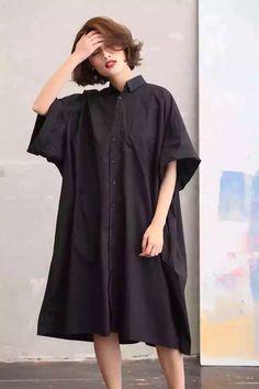 Bat sleeve big dress maxisize loose long dress women's clothes