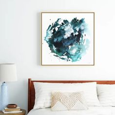 Surrender - abstract teal artwork Framed Canvas Teal Artwork, Framed Artwork, Abstract Lines, Abstract Wall Art, Framed Canvas Prints, Canvas Frame, Meet The Artist, Contemporary Paintings, Line Art
