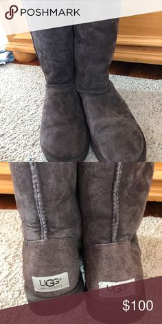 Chocolate Brown Tall Uggs Tall uggs in chocolate brown. Only worn a few times and in great condition! Women's 8 UGG Shoes Winter & Rain Boots