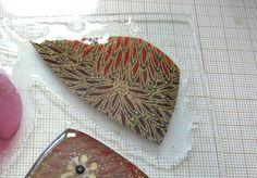 Using fabric scraps with liquid polymer