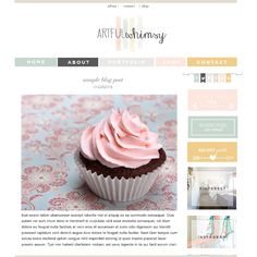 premade blog templates by smitten blog designs