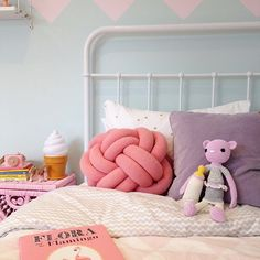 """""""Love this pic of our Mia Miau kitty and her beloved milkaholic milkbottle styled by great @littledwellings  #childrensinteriordesign #interiordesign #girlsroom #styling #toys #legggybuddy #miamiau #pink #pastel #nursery #crochet #doll #cat #kitty #style #fashion"""" Photo taken by @leggybuddy on Instagram, pinned via the InstaPin iOS App! http://www.instapinapp.com (02/05/2015)"""