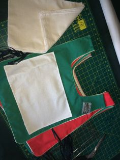 This week's project is netball type bibs for a charity sack race!
