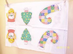Retro Fabric Christmas Panel To Make Six by TheVintageDresser, $10.00