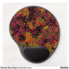 Blumen Bunt Aqua Gel Mousepad Aqua, Spoon Rest, Designs, Bunt, Welcome Home, Empty Wall, Postcards, Artworks, Nice Asses