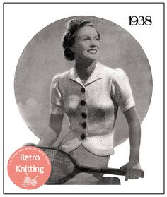 1930's Jumper Jacket Vintage Knitting Pattern  PDF